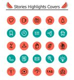 Trendy Highlights Stories Icons. stock illustration