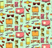 Trendy Hipster Elements Seamless Pattern Stock Photo