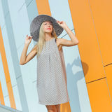 Trendy hipster girl Royalty Free Stock Image