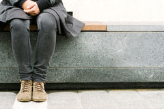 Trendy hipster resting in the city Stock Image