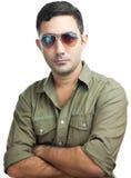 Trendy hispanic man with sunglasses Royalty Free Stock Photography