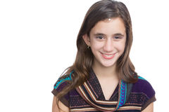 Trendy hispanic teenager isolated on a white background Stock Images
