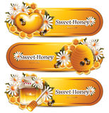 Trendy Honey Banners Royalty Free Stock Photos
