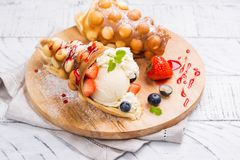 Hong Kong bubble waffles royalty free stock photo