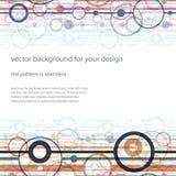 Trendy horizontal seamless background. Stock Images