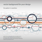 Trendy horizontal seamless background. Stock Photos