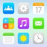 Trendy icons set Stock Image