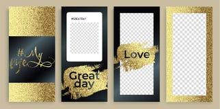 Trendy Instagram stories templates, illustration. vector illustration