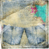 Trendy jeans background Royalty Free Stock Image
