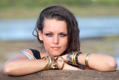 Trendy jonge vrouw Royalty-vrije Stock Fotografie