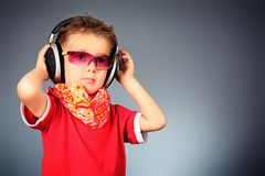 Trendy kid Royalty Free Stock Photos