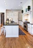 Trendy kitchen. Trendy modern kitchen remodel in white and black Stock Photos