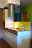Trendy kitchen interiror. Trendy kitchen in a modern architecture Stock Photo