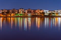 Trendy Lakefront Condos stock photography