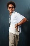 Trendy latino man posing Stock Photos