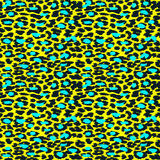 Trendy Leopard or cheetah skin seamless pattern, animal fur back. Ground, vector background in neon colors. Fabric design, wrapping paper, textile Royalty Free Stock Photo