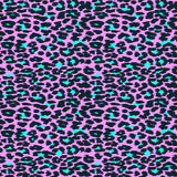 Trendy Leopard or cheetah skin seamless pattern, animal fur back. Ground, vector background in neon colors. Fabric design, wrapping paper, textile Stock Photos