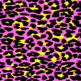 Trendy Leopard or cheetah skin seamless pattern, animal fur back. Ground, vector background in neon colors. Fabric design, wrapping paper, textile Stock Photo