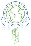 Trendy line design banner for Earth Day Stock Image