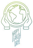 Trendy line design banner for Earth Day Stock Photo