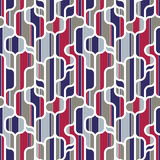 Trendy lines shapes and colors seamless pattern. Stock Photo