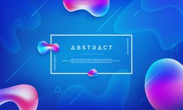 Trendy Liquid color background. Abstract blue, pink, purple background. Modern Futuristic liquid design posters. Gradient shapes composition stock illustration