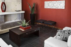 Trendy living room Stock Photos