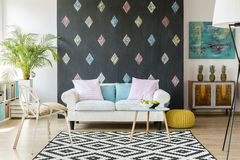 Trendy living room idea Stock Image