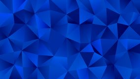 Trendy Low Poly Blue Backdrop. Clear and Crystal royalty free illustration