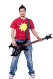 Trendy man with electric guitar Stock Image