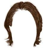 Trendy man hairs  . medium length . beauty  .realistic  3d . Stock Photo