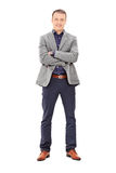 Trendy man posing isolated on white background Stock Photo