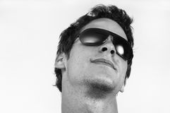 Trendy man with sunglasses Royalty Free Stock Image