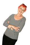 Trendy mature woman Royalty Free Stock Images