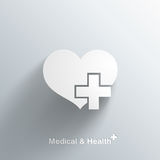 Trendy Medical Symbol With Transparent Shadow Royalty Free Stock Photo