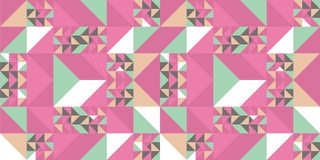 Trendy memphis abstract triangle seamless pattern colorful awesome design for textile print and wrapping. Hipster retro template element style background modern stock illustration