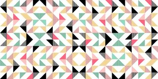 Trendy memphis abstract triangle seamless pattern colorful awesome design for textile print and wrapping. Hipster retro template element style background modern royalty free illustration
