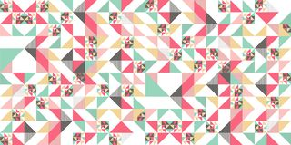 Trendy memphis abstract triangle seamless pattern colorful awesome design for textile print and wrapping. Hipster retro template element style background modern vector illustration
