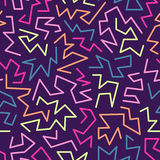 Trendy memphis style seamless pattern inspired by 80s, 90s retro fashion design. Colorful festive hipster background. Abstract doodle illustration from Royalty Free Stock Photo