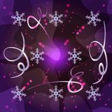 Trendy Merry Christmas and New Year background royalty free illustration