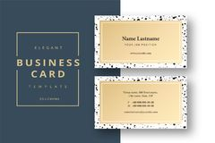 Trendy minimal abstract business card template. Modern corporate vector illustration