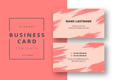 Trendy minimal abstract business card template. Modern corporate stock illustration