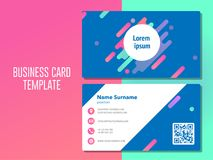 Trendy minimal abstract business card template stock illustration