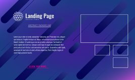 Trendy Minimal cover design layout or landing page web design template. Vector Geometric abstract halftone gradients. Trendy Minimal cover design layout or vector illustration