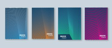 Trendy Minimal cover design layout template. Vector Geometric abstract halftone gradients. Trendy Minimal cover design layout template. Geometric abstract vector illustration