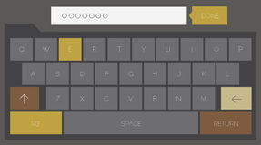 Trendy mobile keyboard Stock Image