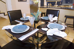 Trendy Modern Dining Room Royalty Free Stock Photography