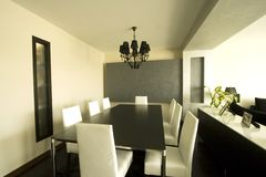 Trendy Modern Dining Room Stock Photo