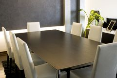 Trendy Modern Dining Room stock images