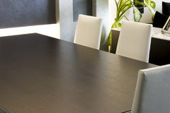 Trendy Modern Dining Room Stock Image